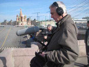Dreharbeiten in Moskau für »Von Sängern und Mördern (2014)«