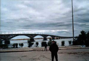 Brücke über die Wolga von Saratov nach Engels
