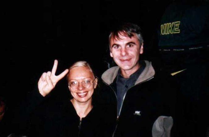 Ingo mit Olga Kalaschnikova, Enkeltochter des Erfinders des legendären Sturmgewehrs
