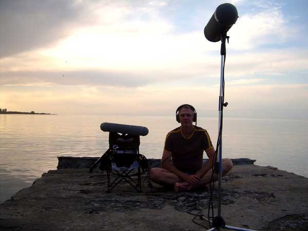 Kyrgysistan 2007 sunset at Issykul, recording surround